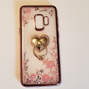 ♡ NEW ♡ Samsung Galaxy S9 Pink Floral Phone Case